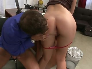 Super-naughty office super-bitch loves deep throating and railing her chief sex tube