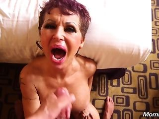 Point of view jizm shot for 60 yo yam-sized cupcakes grandmother cockslut who loves rectal hump sex video