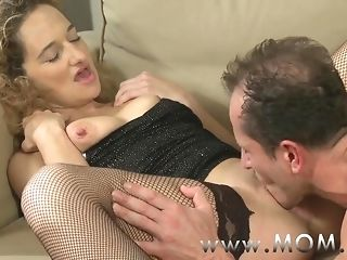 Mommy ugly curly haired cougar object pummeled on hammer away phrase porn film over