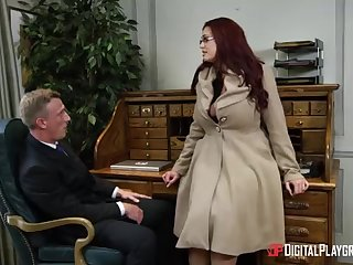 Alessandra Jane and Emma are having a 3some in their office, mislead doing their job